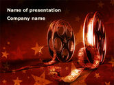 Careers/Industry: Film Cassettes In A Dark Red Colors PowerPoint Template #08847