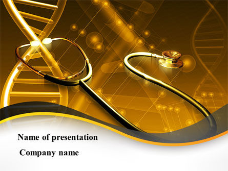 Medical: Treatment Of Hereditary Diseases PowerPoint Template #08848