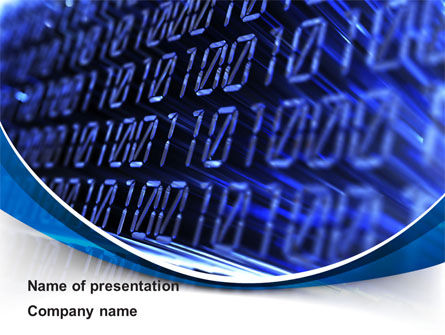 Digital Matrix PowerPoint Template, 08849, Technology and Science — PoweredTemplate.com