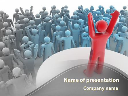 Public Leader PowerPoint Template, 08851, Consulting — PoweredTemplate.com