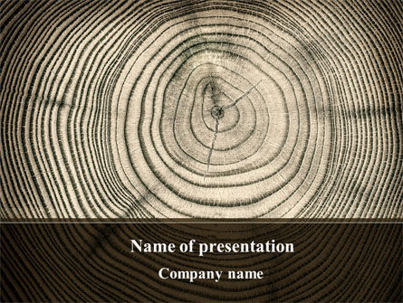 Wooden Growth Rings PowerPoint Template, 08853, Consulting — PoweredTemplate.com