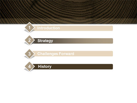 Wooden Growth Rings PowerPoint Template, Slide 3, 08853, Consulting — PoweredTemplate.com