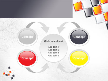 Mosaic Parts PowerPoint Template Slide 6