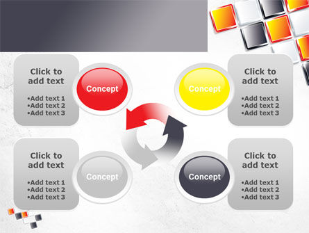 Mosaic Parts PowerPoint Template Slide 9