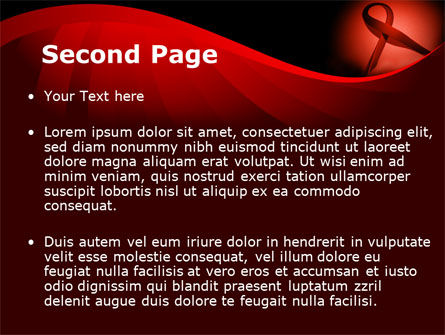Red Ribbon Awareness PowerPoint Template, Slide 2, 08856, Medical — PoweredTemplate.com