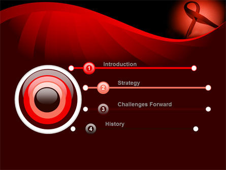 Red Ribbon Awareness PowerPoint Template, Slide 3, 08856, Medical — PoweredTemplate.com