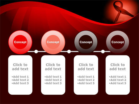 Red Ribbon Awareness PowerPoint Template Slide 5
