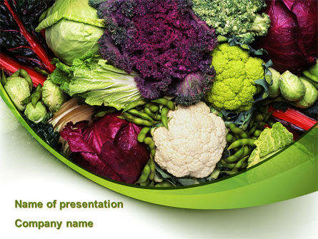 Cabbage PowerPoint Template, 08858, Agriculture — PoweredTemplate.com