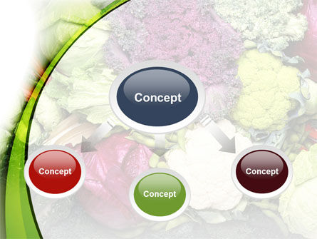 Cabbage PowerPoint Template, Slide 4, 08858, Agriculture — PoweredTemplate.com