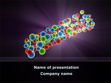 cell aggregates free powerpoint template, backgrounds | 08860, Modern powerpoint