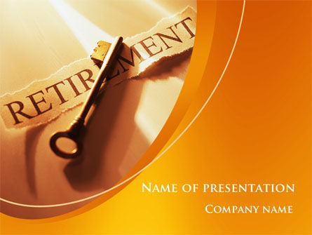 Financial/Accounting: Retirement Pension Plan PowerPoint Template #08861