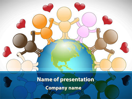 All We Need Is Love PowerPoint Template, 08863, Education & Training — PoweredTemplate.com
