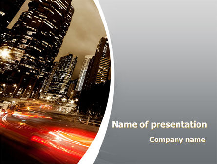 Business: Twilight In The City PowerPoint Template #08864