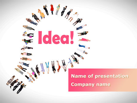Women's Idea PowerPoint Template, 08866, Business Concepts — PoweredTemplate.com