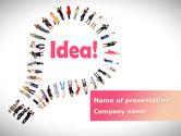 Business Concepts: Women's Idea PowerPoint Template #08866