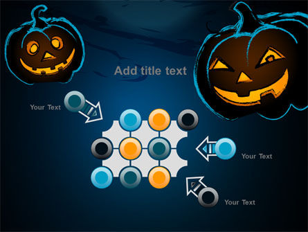 Free Blue Halloween Night PowerPoint Template Slide 10