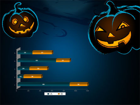 Free Blue Halloween Night PowerPoint Template Slide 11