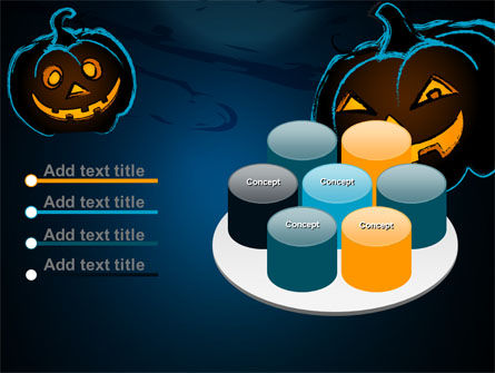 Free Blue Halloween Night PowerPoint Template Slide 12