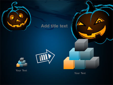 Free Blue Halloween Night PowerPoint Template Slide 13