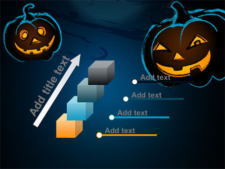 Free Blue Halloween Night PowerPoint Template Slide 14