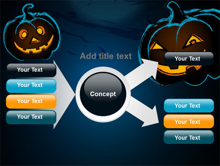 Blue Halloween Night Free PowerPoint Template Slide 15