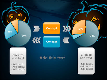 Free Blue Halloween Night PowerPoint Template Slide 16