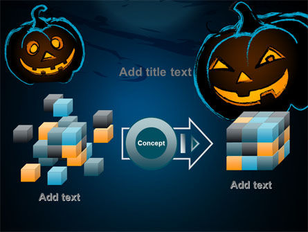 Free Blue Halloween Night PowerPoint Template Slide 17