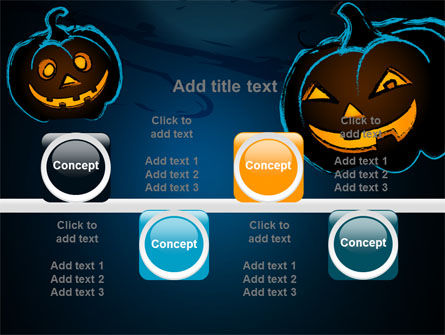 Free Blue Halloween Night PowerPoint Template Slide 18