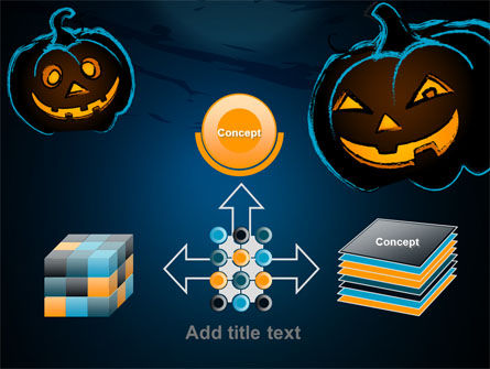 Free Blue Halloween Night PowerPoint Template Slide 19