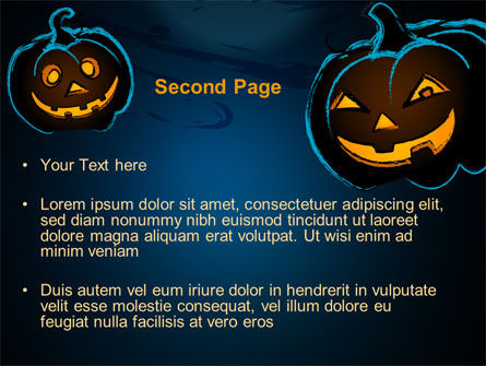 Blue Halloween Night Free PowerPoint Template, Slide 2, 08867, Holiday/Special Occasion — PoweredTemplate.com