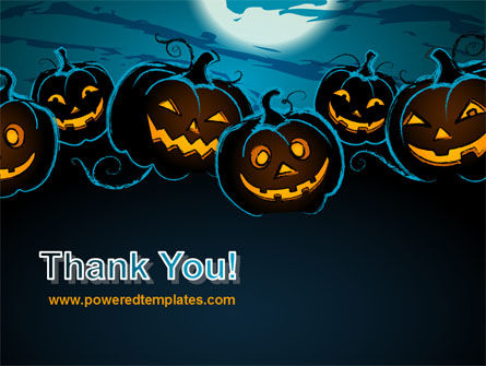 Free Blue Halloween Night PowerPoint Template Slide 20