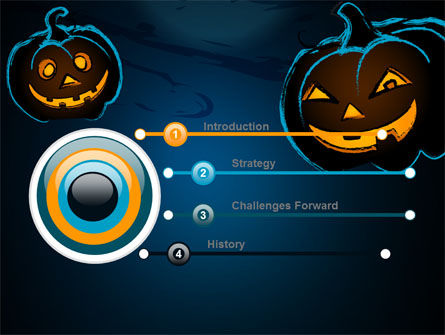 Blue Halloween Night Free Powerpoint Template Backgrounds 08867