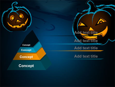 Blue Halloween Night Free PowerPoint Template, Slide 4, 08867, Holiday/Special Occasion — PoweredTemplate.com