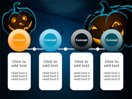 Free Blue Halloween Night PowerPoint Template Slide 5