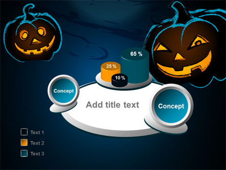 Blue Halloween Night Free PowerPoint Template Slide 6
