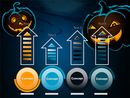 Free Blue Halloween Night PowerPoint Template Slide 7