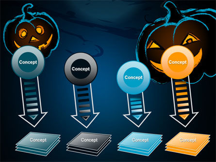 Blue Halloween Night Free PowerPoint Template Slide 8