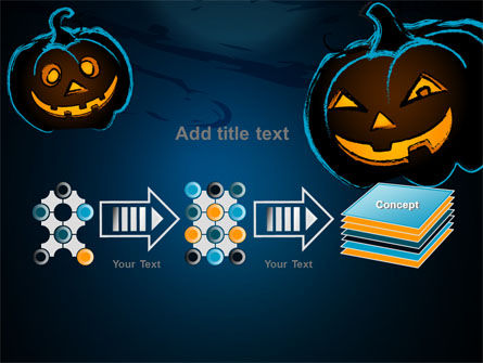 Free Blue Halloween Night PowerPoint Template Slide 9