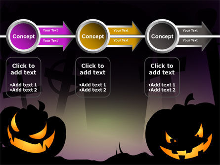 Free Violet Halloween Night PowerPoint Template Slide 11
