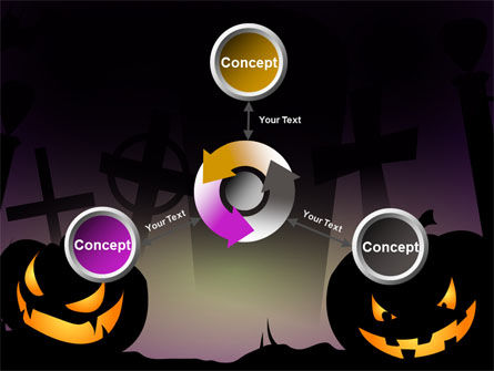 Free Violet Halloween Night PowerPoint Template Slide 12