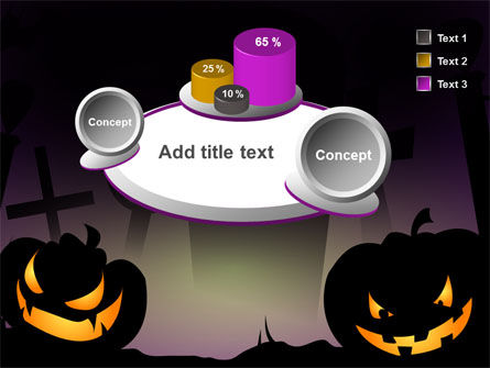 Free Violet Halloween Night PowerPoint Template Slide 13