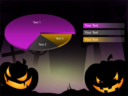Free Violet Halloween Night PowerPoint Template Slide 14
