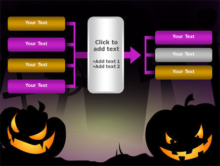Free Violet Halloween Night PowerPoint Template Slide 16