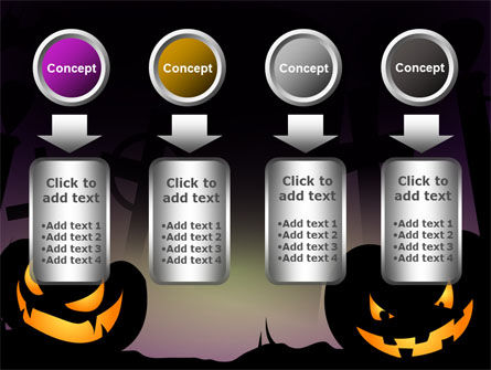 Free Violet Halloween Night PowerPoint Template Slide 18