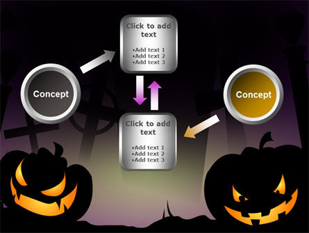 Free Violet Halloween Night PowerPoint Template Slide 19