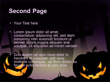 Free Violet Halloween Night PowerPoint Template Slide 2