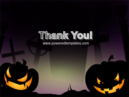 Free Violet Halloween Night PowerPoint Template Slide 20
