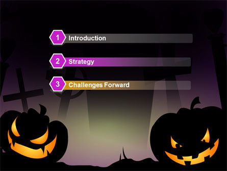 Violet Halloween Night Free PowerPoint Template, Slide 3, 08868, Holiday/Special Occasion — PoweredTemplate.com