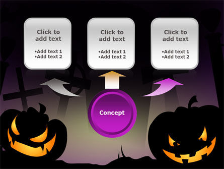 Free Violet Halloween Night PowerPoint Template Slide 4