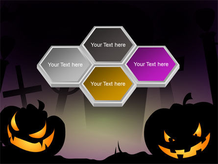 Free Violet Halloween Night PowerPoint Template Slide 5